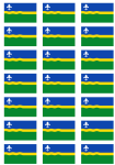 Flevoland Flag Stickers - 21 per sheet